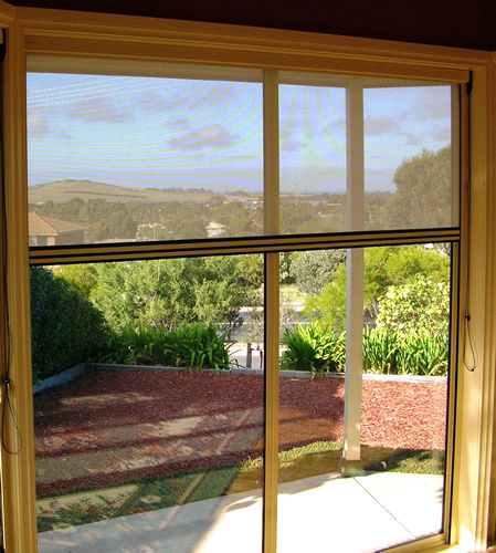 Retractable Flyscreen Doors Into Blinds