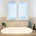 Bathroom With PVC Plantation Shutters