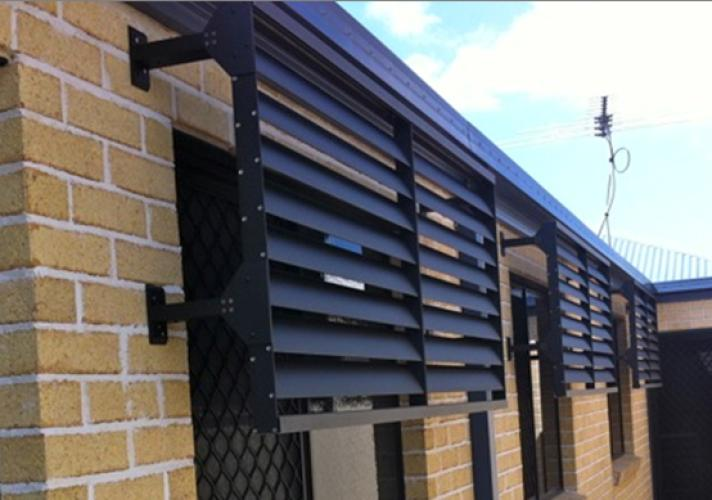 Fixed Blade External Plantation Shutters Into Blinds