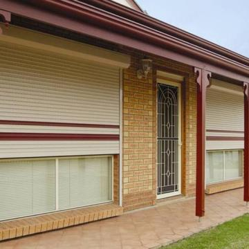 Outdoor blinds melbourne cafe blinds roller shutters - Electric window shutters interior ...