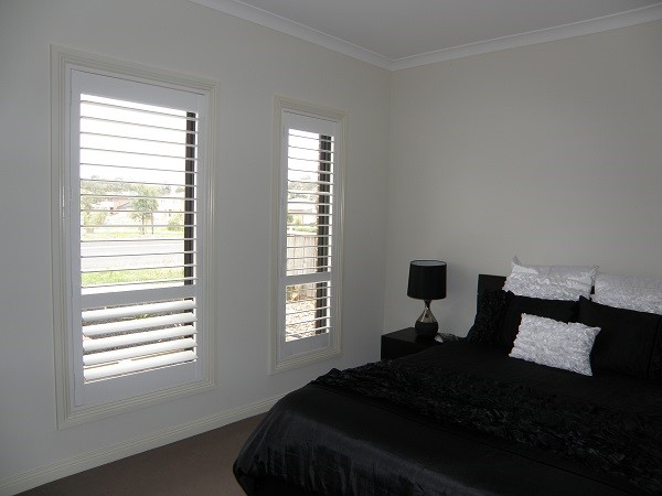 White Plantation Shutters made from PVC