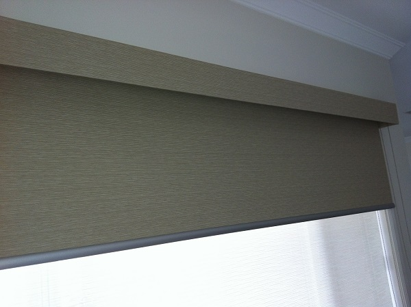Dual Blinds with Pelmet
