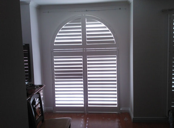 Shaped Angled Plantation Shutters Square Round Windows