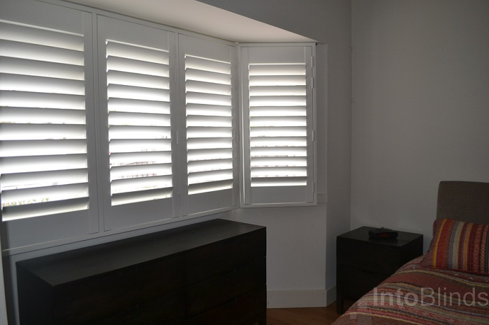 Pvc plantation shutters melbourne into blinds for Window shutters