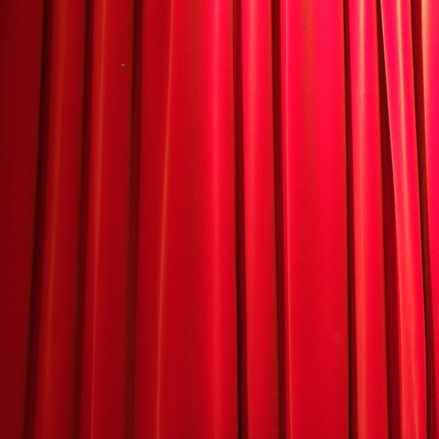 Red Curtains Into Blinds